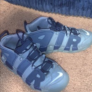 Blue and grey uptempos size 6
